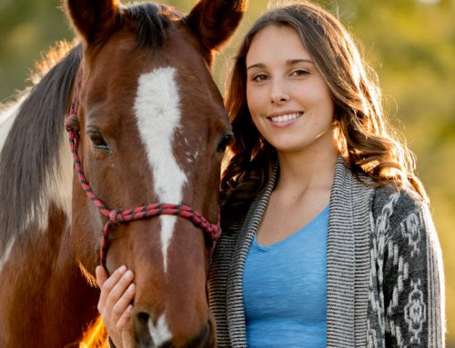 Teen Face: Exuding confidence,whether writing or riding